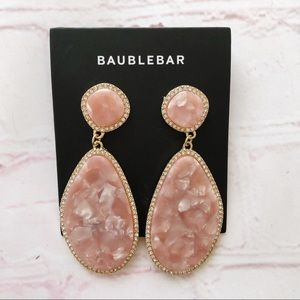 [Baublebar] NWT Everine marbled pink drop earrings